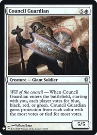 Council Guardian, Magic: The Gathering, Mystery Booster: Retail Exclusives