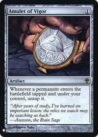 Amulet of Vigor, Magic: The Gathering, Mystery Booster: Retail Exclusives