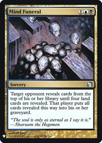 Mind Funeral, Magic: The Gathering, Mystery Booster: Retail Exclusives