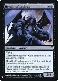 Herald of Leshrac, Magic: The Gathering, Mystery Booster: Retail Exclusives