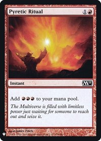 Pyretic Ritual, Magic: The Gathering, Mystery Booster: Retail Exclusives