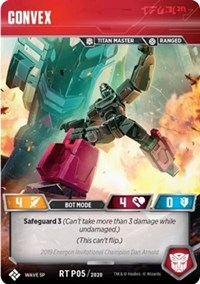 Convex (2019 Energon Invitational Champion Promo), Transformers TCG, Titan Masters Attack
