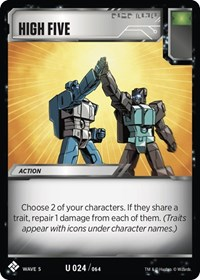 High Five, Transformers TCG, Titan Masters Attack