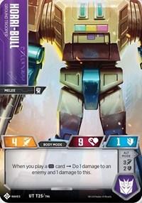 Horri-Bull - Ground Trooper, Transformers TCG, Titan Masters Attack