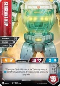 Sergeant Kup - Wrecker Leader, Transformers TCG, Titan Masters Attack