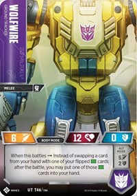 Wolfwire - Ground Tracker, Transformers TCG, Titan Masters Attack
