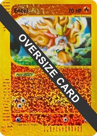 Entei - 5/12 (Box Topper), Pokemon, Jumbo Cards
