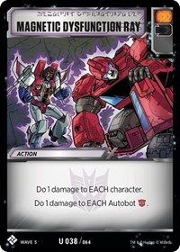 Magnetic Dysfunction Ray, Transformers TCG, Titan Masters Attack