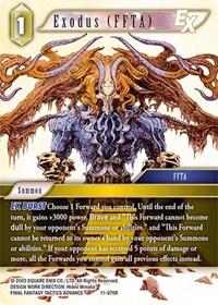 Wind Pandemonium 11-055R Rare Final Fantasy TCG Opus XI Summon