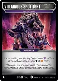 Villainous Spotlight, Transformers TCG, Titan Masters Attack