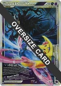 Darkrai & Cresselia Legend - 99+100 (Single Oversized Promo), Pokemon, Jumbo Cards