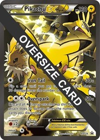 Pikachu EX - XY124 (XY Black Star Promo), Pokemon, Jumbo Cards