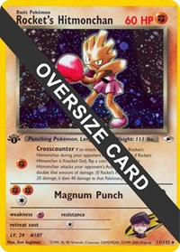 Rocket's Hitmonchan - 11/132 (Gym Heroes 11), Pokemon, Jumbo Cards