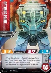 Optimus Prime - Legendary Warrior, Transformers TCG, Titan Masters Attack