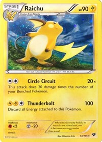Raichu - 43/146 (Cosmos Holo), Pokemon, Blister Exclusives