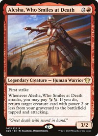 Alesha, Who Smiles at Death, Magic: The Gathering, Commander 2020