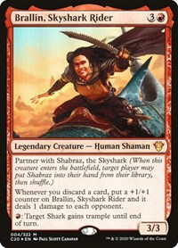 Brallin, Skyshark Rider, Magic: The Gathering, Commander 2020