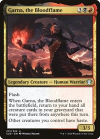 Garna, the Bloodflame, Magic: The Gathering, Commander 2020