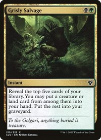 Grisly Salvage, Magic: The Gathering, Commander 2020