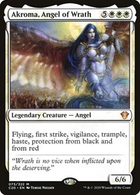 Akroma, Angel of Wrath, Magic: The Gathering, Commander 2020