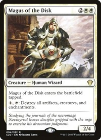 Magus of the Disk, Magic: The Gathering, Commander 2020