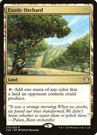 Exotic Orchard, Magic, Commander 2020