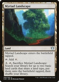 Myriad Landscape, Magic: The Gathering, Commander 2020