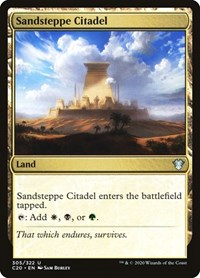 Sandsteppe Citadel, Magic, Commander 2020