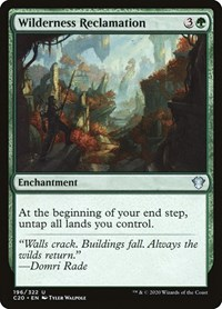 Wilderness Reclamation, Magic: The Gathering, Commander 2020