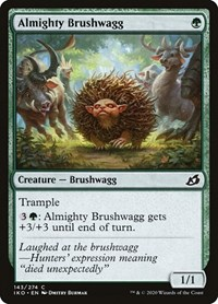 Almighty Brushwagg, Magic: The Gathering, Ikoria: Lair of Behemoths