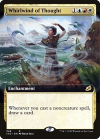 Whirlwind of Thought (Extended Art), Magic: The Gathering, Ikoria: Lair of Behemoths