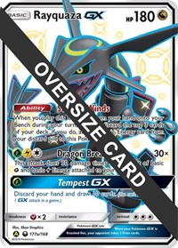 Rayquaza GX - 177a (Celestial Storm Promo), Pokemon, Jumbo Cards