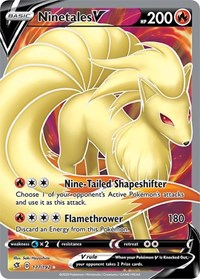 Ninetales V (Full Art), Pokemon, SWSH02: Rebel Clash