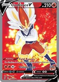 Cinderace V (Full Art), Pokemon, SWSH02: Rebel Clash