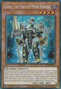 Girsu, the Orcust Mekk-Knight, YuGiOh, Eternity Code