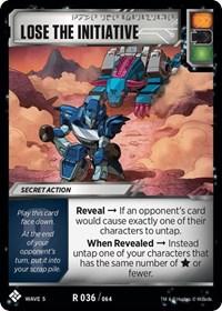 Lose the Initiative, Transformers TCG, Titan Masters Attack