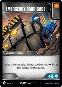Emergency Barricade, Transformers TCG, Titan Masters Attack