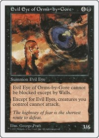 Evil Eye of Orms-by-Gore, Magic, Fifth Edition