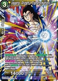 Vegeta, Prideful Transformation, Dragon Ball Super CCG, Rise of the Unison Warrior