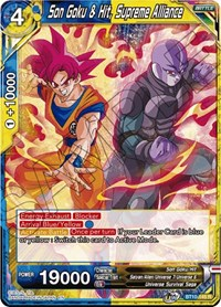 Son Goku & Hit, Supreme Alliance, Dragon Ball Super CCG, Rise of the Unison Warrior
