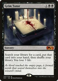 Grim Tutor, Magic: The Gathering, Core Set 2021