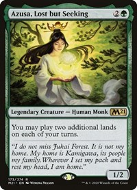 Azusa, Lost but Seeking, Magic: The Gathering, Core Set 2021