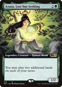 Azusa, Lost but Seeking (Extended Art), Magic: The Gathering, Core Set 2021