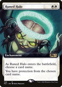 Runed Halo (Extended Art), Magic, Core Set 2021