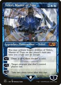 Teferi, Master of Time (Showcase) (291), Magic: The Gathering, Core Set 2021