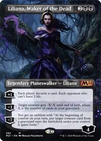 Liliana, Waker of the Dead (Borderless), Magic, Core Set 2021