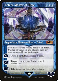 Teferi, Master of Time (Showcase) (292), Magic: The Gathering, Core Set 2021