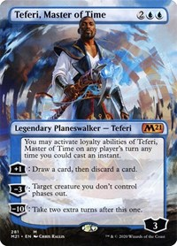 Teferi, Master of Time (Borderless), Magic: The Gathering, Core Set 2021
