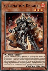 Sublimation Knight, YuGiOh, Toon Chaos