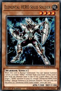 Elemental HERO Solid Soldier, YuGiOh, Toon Chaos